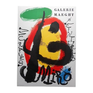 Vintage Modern Joan Miro Lithograph For Sale