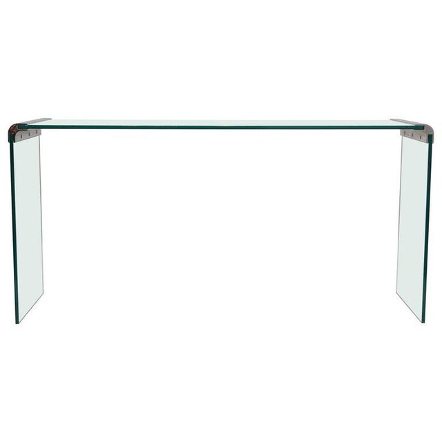 Transparent Pace Collection Waterfall Console Table For Sale - Image 8 of 8