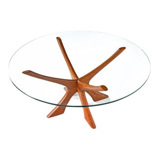 Danish Teak Coffee Table by Illum Wikkelso Jax Table