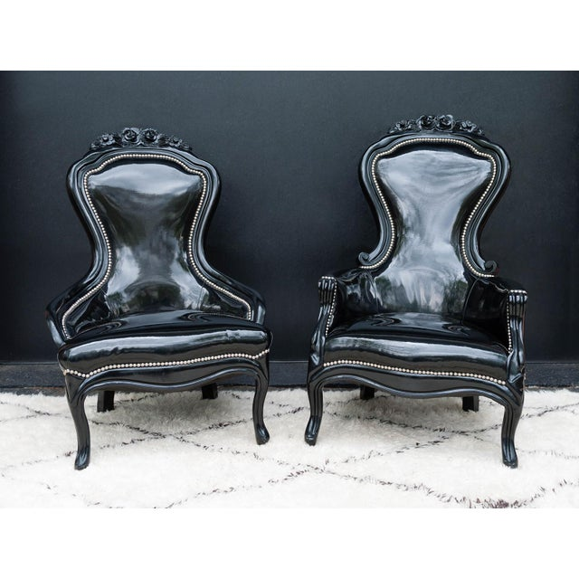 Luxe Regency King and Queen Chairs - Image 2 of 11