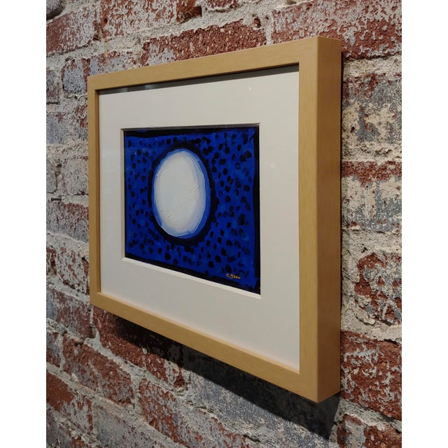 "1960s Conrad Buff ""Snowball Over a Deep Blue"" Modernist Oil Painting For Sale - Image 5 of 8"