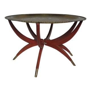 1960s Carlo Di Carli Style Danish Spider Leg Coffee Table For Sale