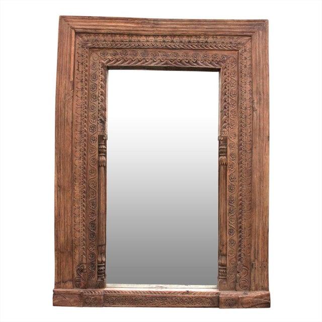 Antique Door Frame Floor Mirror - Image 7 of 7 - Antique Door Frame Floor Mirror Chairish