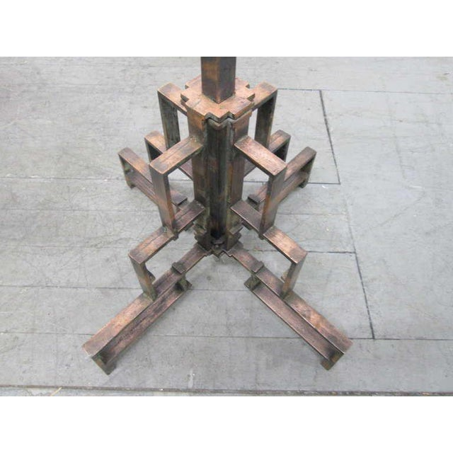 Coppered Steel Coat Tree Stand For Sale - Image 4 of 6