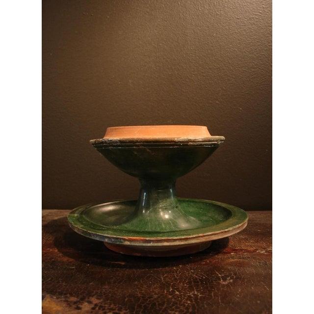 Ceramic A Han Dynasty Green Glazed Boshanlu Censer For Sale - Image 7 of 7