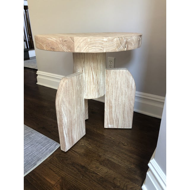 Brand new, just unwrapped Shizue side table by Noir. Stunning and sculptural, the table is made of solid wood in a...