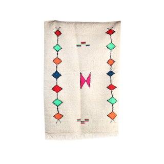 "Beni Ourain Vintage Moroccan Rug, 3'4"" X 4'11"" Feet"
