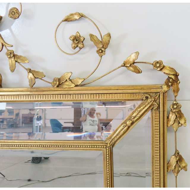 Neoclassical Style Gilt Beveled Mirrors - Pair - Image 3 of 5