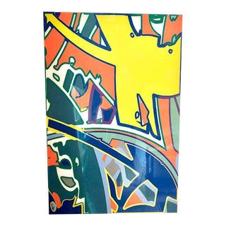Keith Haring Influenced Limited Edition Contemporary Print on Acrylic For Sale