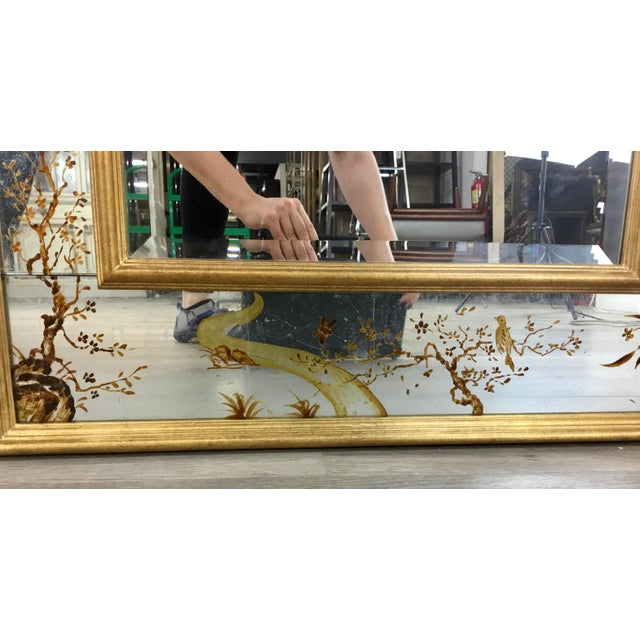 2010s Made Goods Asian Chinoiserie Eloise Wall Mirror For Sale - Image 5 of 7