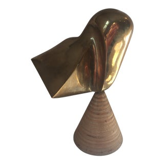 1980s Abstract Modernist Bronze Sculpture For Sale
