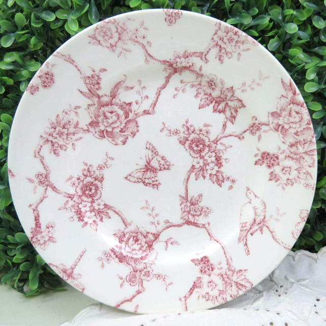 Late 20th Century Vintage Mismatched China Dessert Plates - Set of 4 For Sale - Image 5 of 10