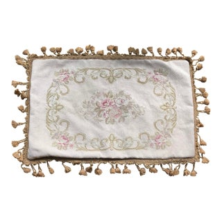Vintage Handmade Tapestry Pillow Case For Sale