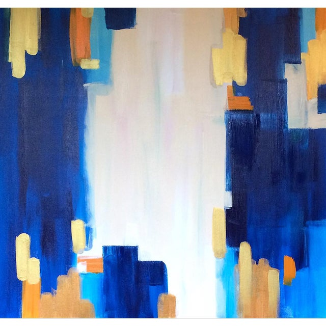 "Abstract Painting ""LAGUNA""by Linnea Heide - Image 1 of 6"