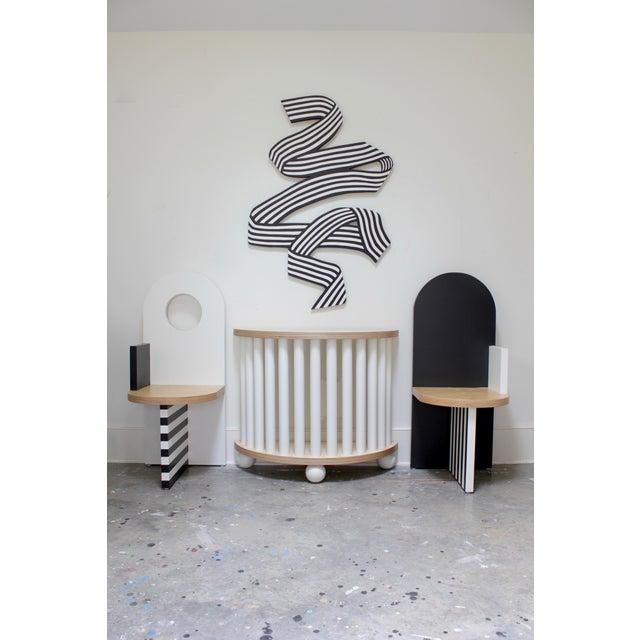 Angela Chrusciaki Blehm Contemporary Angela Chrusciaki Blehm White Arch Chair For Sale - Image 4 of 5
