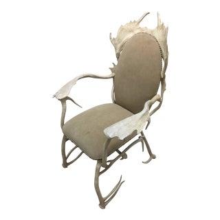 1970s Vintage Arthur Court Aluminum Antler Arm Chair For Sale