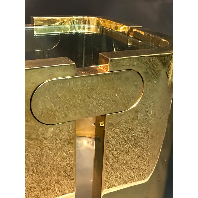 AMAZING GOLDEN BRONZE MODERNIST PUZZLE TABLE - Image 4 of 11