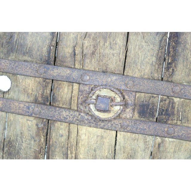 Metal Oak And Iron Wheel, Circa 1700 On Later Iron Stand For Sale - Image 7 of 10