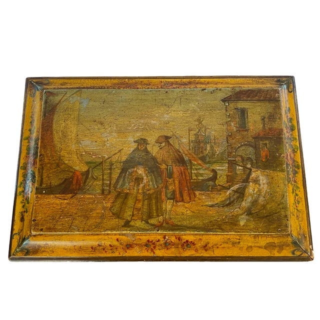 Italian 19th Century Painted Italian Letter Box For Sale - Image 3 of 9