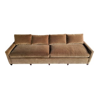 "108"" Extra Long Mohair Sofa by Pearsall For Sale"
