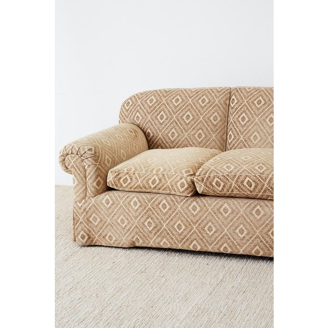 Tan Jonas New York English Style Three-Seat Sofa For Sale - Image 8 of 13