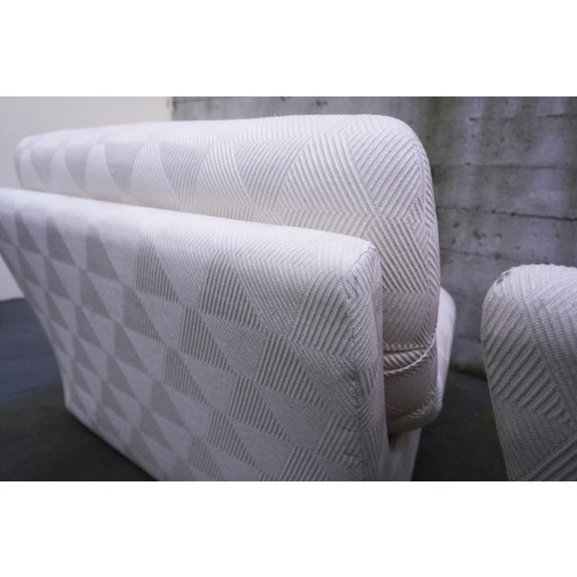 1970s Vladimir Kagan for Preview 2 Piece Modular Sectional Lounge Chairs - a Pair For Sale - Image 10 of 11