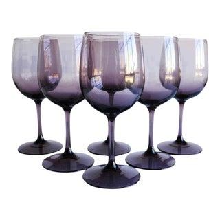 Amethyst Wine Glasses, Set of 6