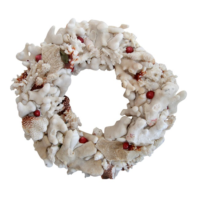 Hand Made Coral Wreath - Image 1 of 3