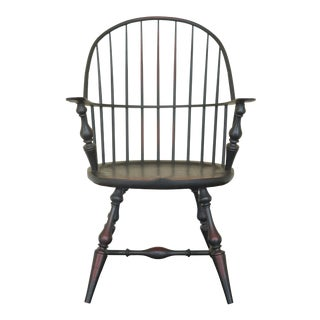 Riverbed Chair Co. Crackle Painted Finish Mini Windsor Chair For Sale