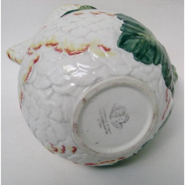 White Italian Majolica Pitcher For Sale - Image 8 of 10