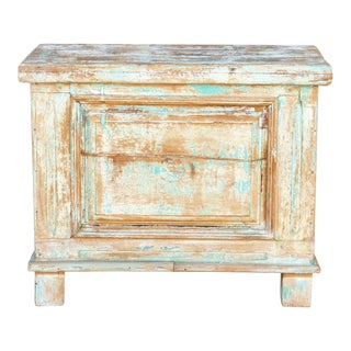 Kabara Old Wood Painted Chest For Sale