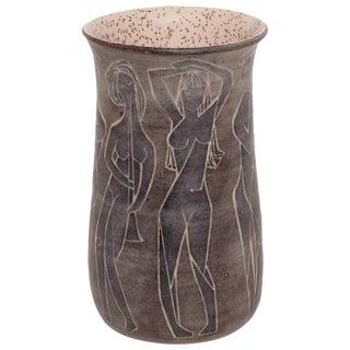 Marcello Fantoni Glazed Ceramic Vessel For Sale