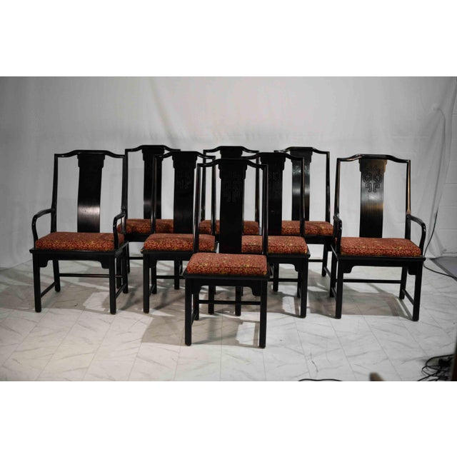 1970s 1970s Chinoiserie Raymond Sobota Asian Dining Chairs by Century - Set of 8 For Sale - Image 5 of 12