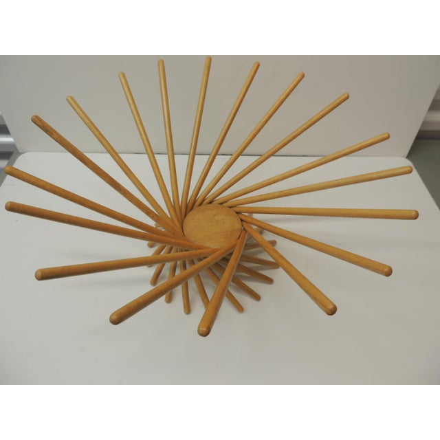 Mid-Century Modern Folding Wood Fruit Basket From MoMa For Sale In Miami - Image 6 of 6