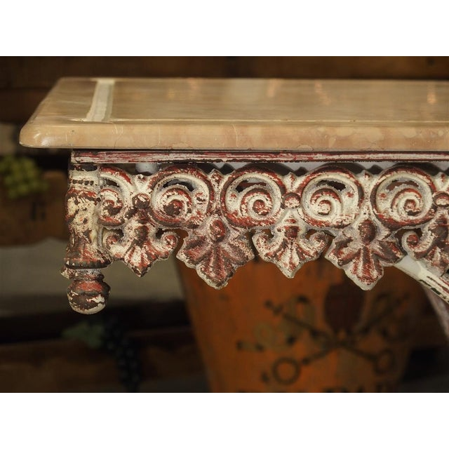 French Iron and Marble Pastry Table For Sale - Image 4 of 13