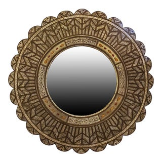 Moroccan Round Shape Wall Mirror For Sale