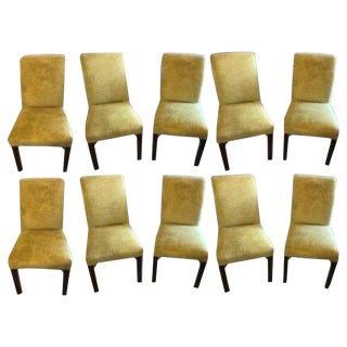Set of 10 Schneller & Sons Chinese Chippendale Sleigh Back Dining Chairs For Sale