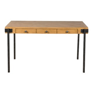 Sarreid Trader's Writing Desk, Heather Grey For Sale