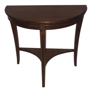 1960s Traditional Half Moon Side Table For Sale