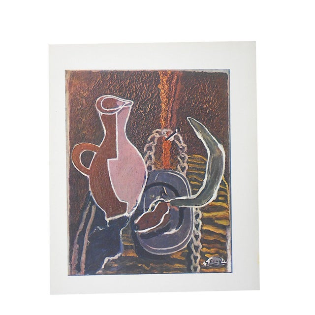 Vintage Mid-Century Braque Lithograph - Image 1 of 4