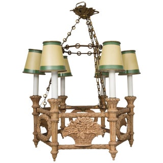 French Empire Style Beechwood Chandelier For Sale