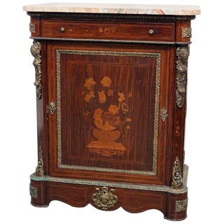 French Empire Style Marble Top Cabinet For Sale