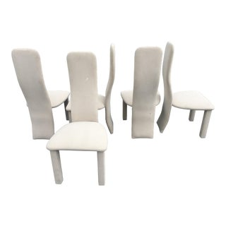 Contemporary Vintage Saporiti Style Dining Chairs - Set of 5 For Sale