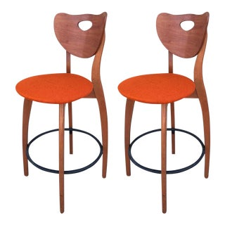 Danish Modern Teak Stools - Set of 2