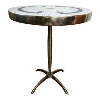 Mid Century Mosaic Tile Pedestal Table