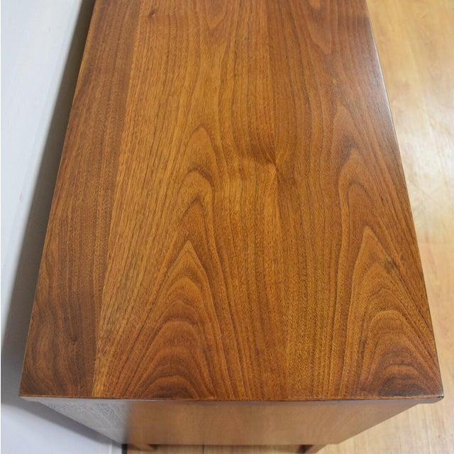 Walnut and Black Vinyl Dresser For Sale - Image 10 of 11