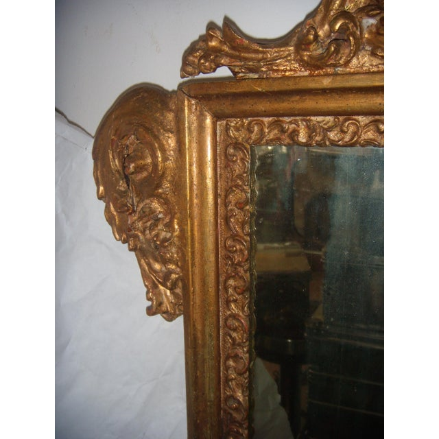 Antique Italian Gilt Cherub Mirror - Image 7 of 10