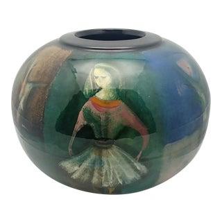 1950s Polia Pillin Ceramic/PotteryVase, Signed For Sale