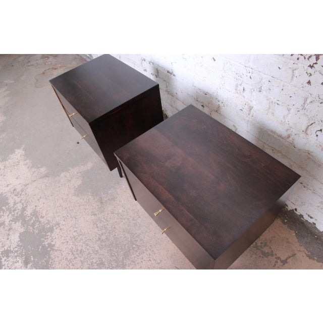 Paul McCobb Planner Group Mid-Century Modern Nightstands, Newly Refinished - a Pair For Sale - Image 9 of 13