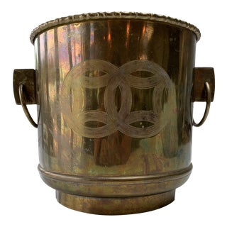 Vintage Mid Century Modern Brass Planter For Sale
